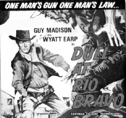 "Newspaper ad for ""Duel at Rio Bravo""."