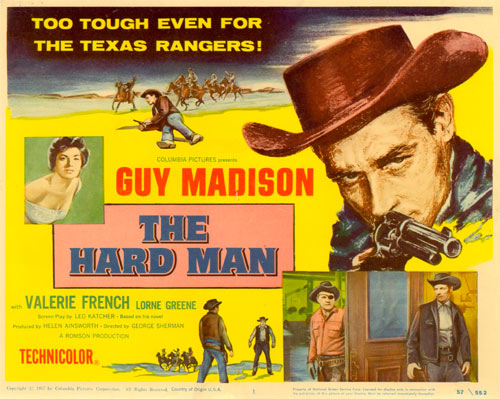 "Title card for ""The Hard Man"" starring Guy Madison."