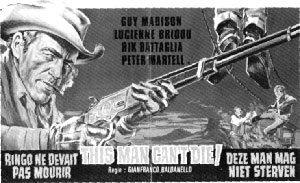 "Newspaper ad for ""This Man Can't Die!"""