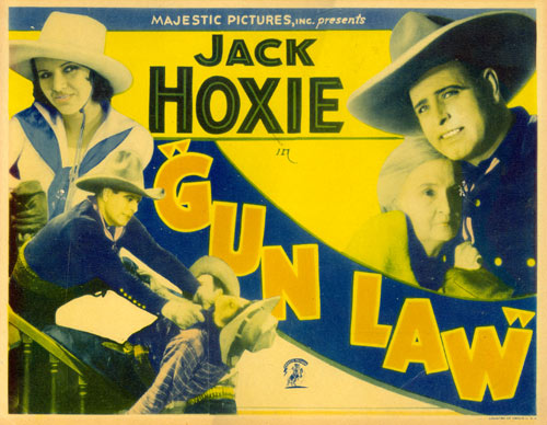 "Title card for Jack Hoxie in ""Gun Law""."