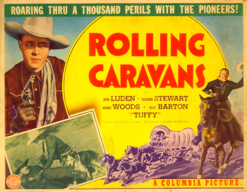 "Title card for ""Rolling Caravans"" starring Jack Luden."