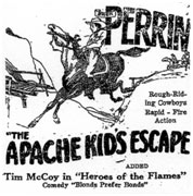 "Ad for ""Apache Kid's Escape""."