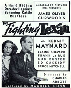 """The Fighting Texan"" starring Kermit Maynard ad."