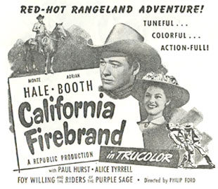 "Monte Hale in ""California Firebrand""."