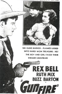 "Rex Bell in ""Gunfire""."
