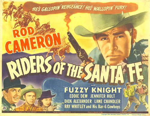 "Ron Cameron in ""Riders of the Santa Fe"" Title Card."