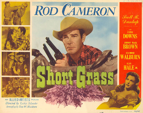 "Rod Cameron in ""Short Grass"" Title Card."