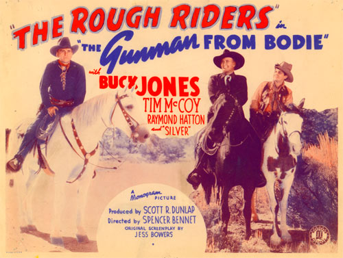 "Title card for ""The Rough Riders"" in ""The Gunman from Bodie""."