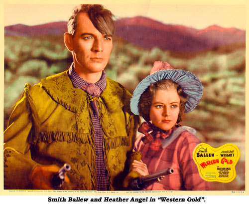 "Smith Ballew and Heather Angel in ""Western Gold""."
