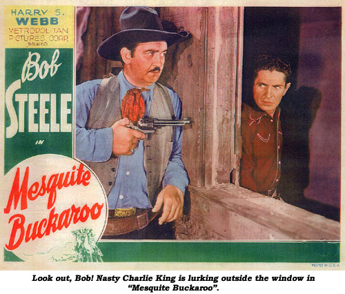 "Look out, Bob! Nasty Charlie King is luring outside the window in ""Mesquite Buckaroo""."