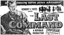 "Newspaper ad for ""The Last Command""."
