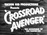 "Newspaper ad for ""Crossroad Avenger"" starring Tom Keene."