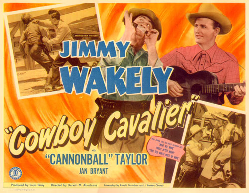 "Title Card for ""Cowboy Cavalier""."