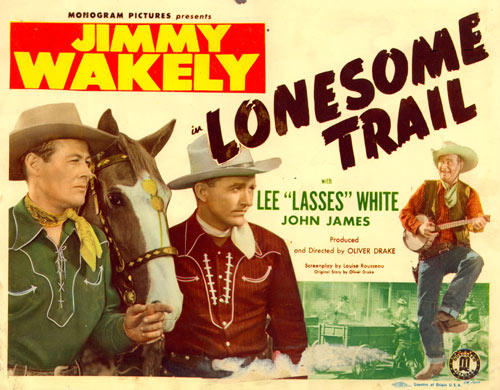 "Title card for Jimmy Wakely's ""Lonesome Trail""."