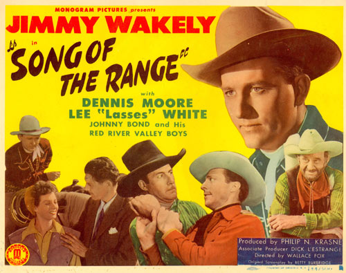 "Title Card for Jimmy Wakely's ""Song of the Range""."