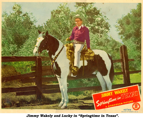 "Jimmy Wakely and Lucky in ""Springtime in Texas""."
