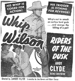 "Whip Wilson in ""Riders of the Dusk""."